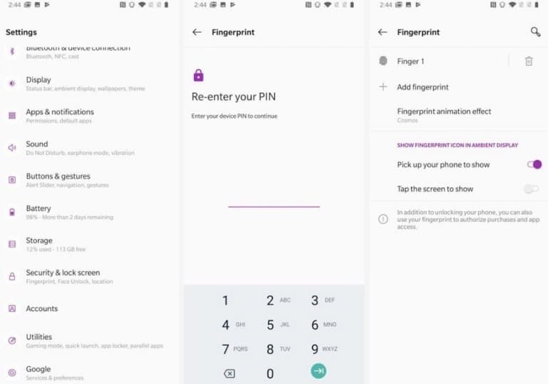 Re install your finger impression to fix the fingerprint scanner problem in OnePlus 7 and OnePlus 7 Pro