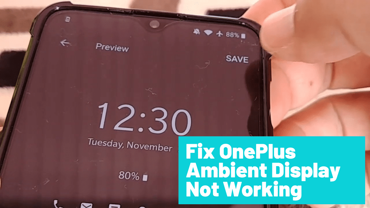 oneplus ambient display not working